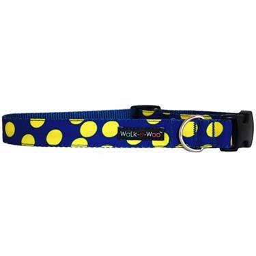 walk-e-woo-neon-dots-yellow-blue-dog-collar
