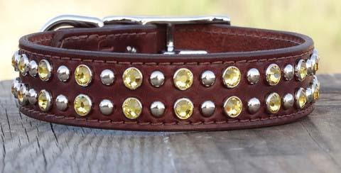 Leather Dog Collar- one-inch-2-row-leather_dog_collar