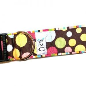 paint-balls-polka-dot-fabric dog-collar