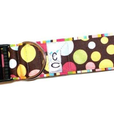 paint-balls-polka-dot-fabric dog-collar