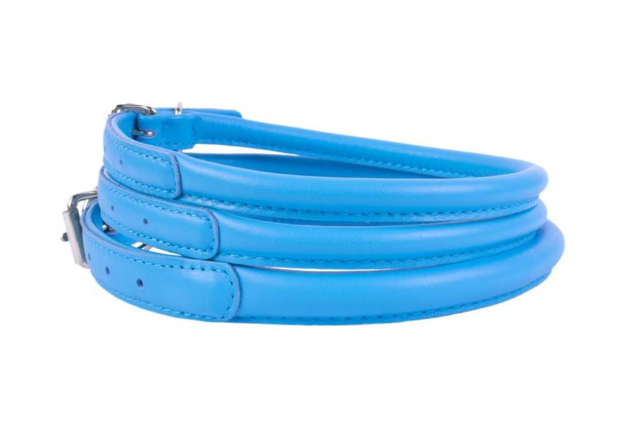 rolled-leather-dog-collar-blue