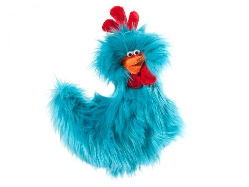 West-Paw-rowdy-rooster-turquoise-dog-toy
