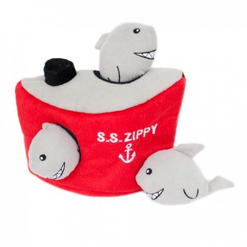 zippypaws-shark-ship-burrow-dog-toy