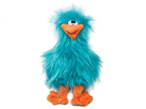 West Paw spring-chicken-turquoise-dog-toy