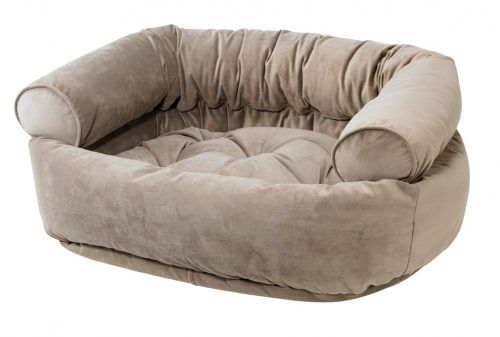 Double Donut Dog Bed - Taupe
