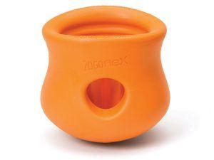 West-Paw-toppl-treat-toy-tangerine-dog-toy-ball