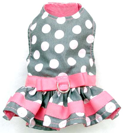 Harness Dress  Gray with White Dots c60e0104c
