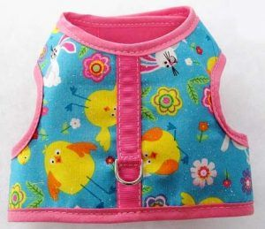 velcro fabric vest dog harness easter chicks