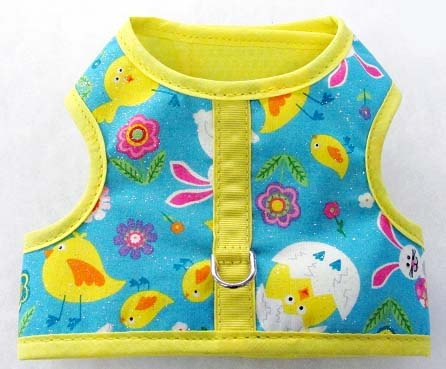 mr-wags-easter-chicks-yellow-trim-velcro-vest-dog-harness