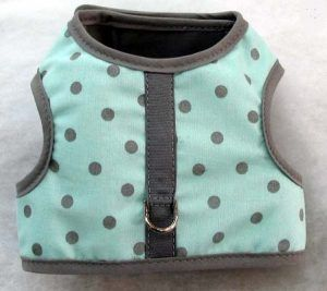 mr-wags-mint-gray-dots-Velcro-vest-Dog-Harness