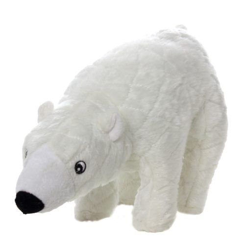 mighty arctic wilburr polar bear dog toy