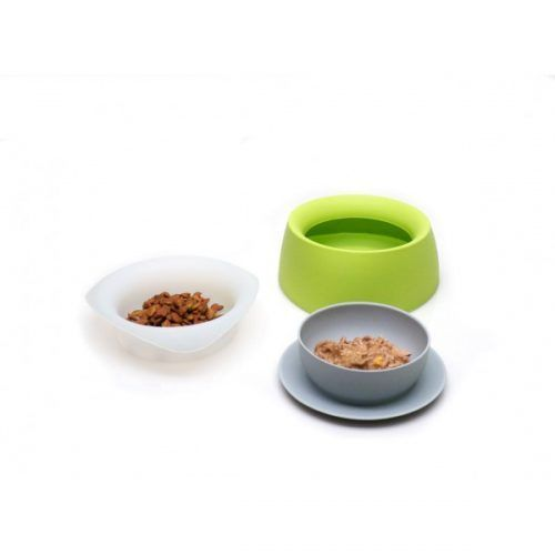 yummy green travel bowls for dogs