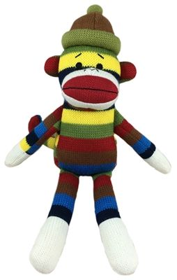 zags-large-sock-monkey dog toy