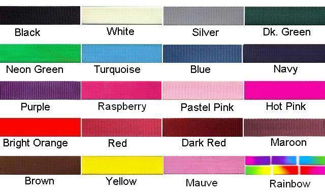 Nylon dog Collar Colors beaded dog collars