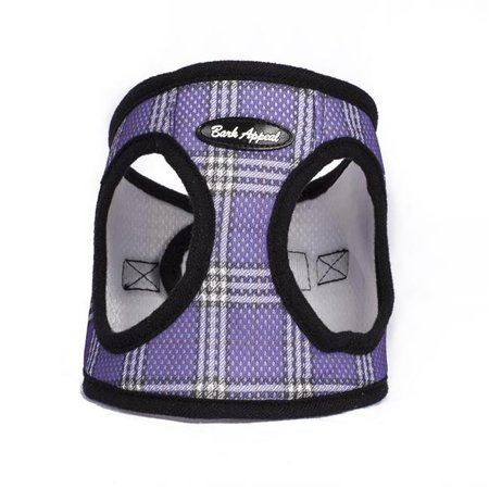Purple Plaid Step In Breathable Dog Harness by Bark Appeal