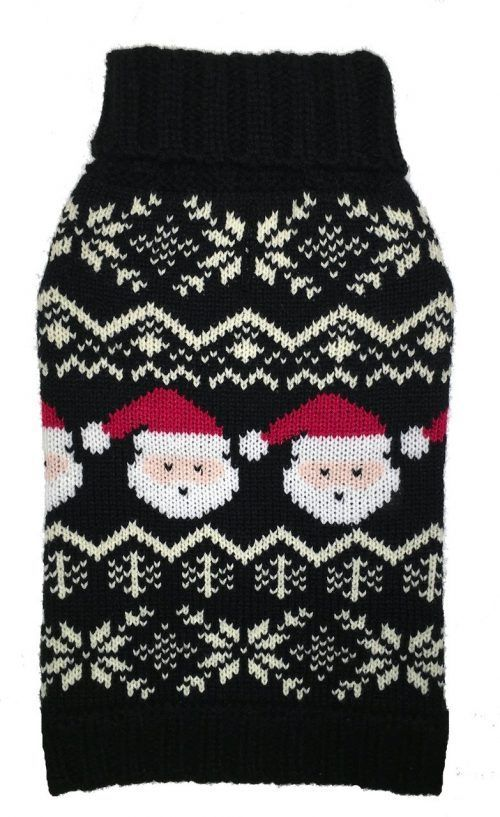 Fab Dog Santa Fairisle Dog Sweater holiday