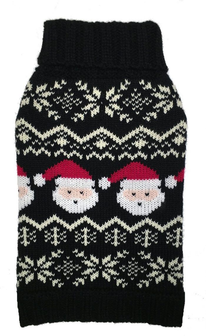 Fab Dog Santa Fairisle Dog Sweater holiday