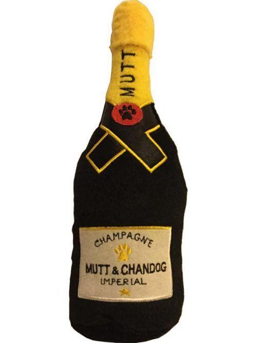 Dog Diggin Design Mutt Champagne Squeaker Dog Toy