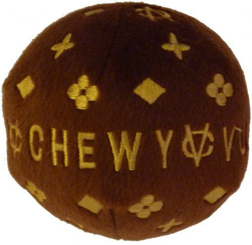 Chewy Vuiton Ball plush dog toy - Dog Diggin Designs