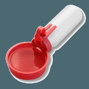 water rover portable pet water bowl regular red