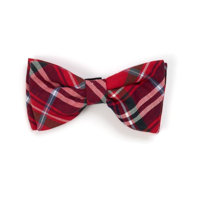 Worthy Dog red plaid bow tie