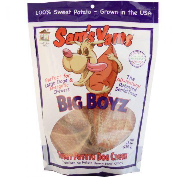 sam's yams big boyz sweet potato dog chews 15 oz