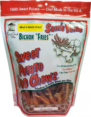 sam's yams Bichon Fries sweet potato dog chews 9 oz