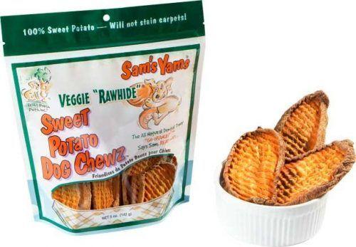 "sam's yams veggie ""rawhide"" sweet potato dog chews"