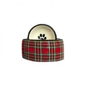 stewart red paid dog bowls by creature comforts