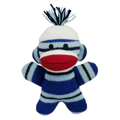 mikey baby sock monkey dog toy by lulubelles