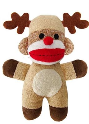 Jingle reindeer baby sock monkey by lulubelles