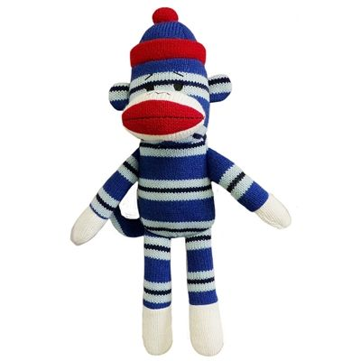 matt sock monkey dog toy by lulubelles