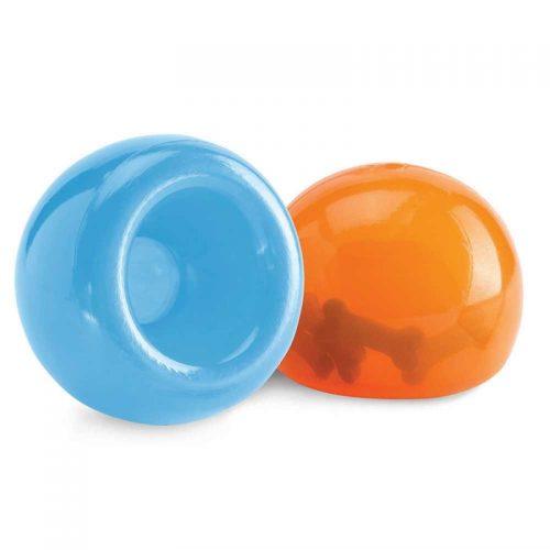 blue and orange tuff dog toy