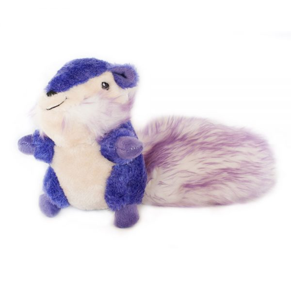 Purple chipmunk dog toy