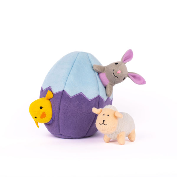 zippy burrow dog toy for Easter