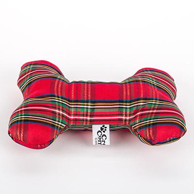 creature comfort plaid christmas dog bone soft