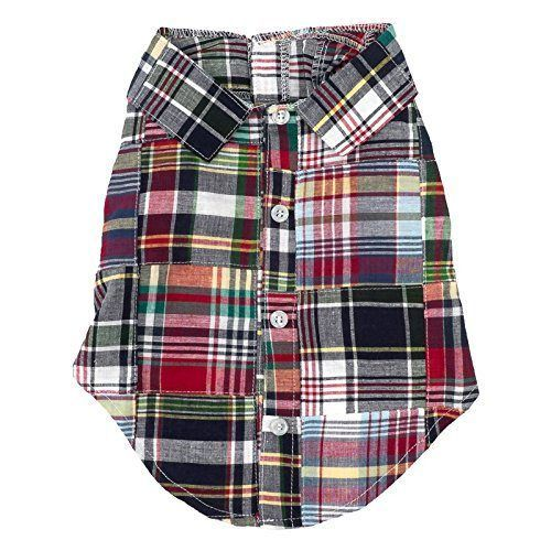 Worthy Dog Dog Shirt Madras Plaid