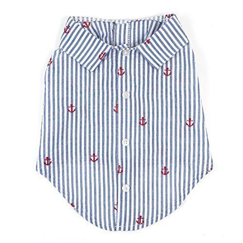 dog shirt navy blue stripe anchor by worthy dog