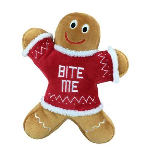 power plush eddie gingerbread man dog toy by lulubelles