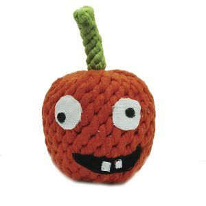 pumpkin rope dog toy