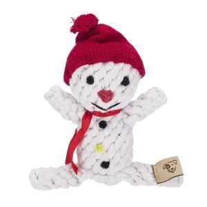 rope dog toy snowman