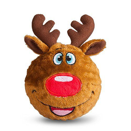 Fab Dog Reindeer Faball Squeaker Dog Toy