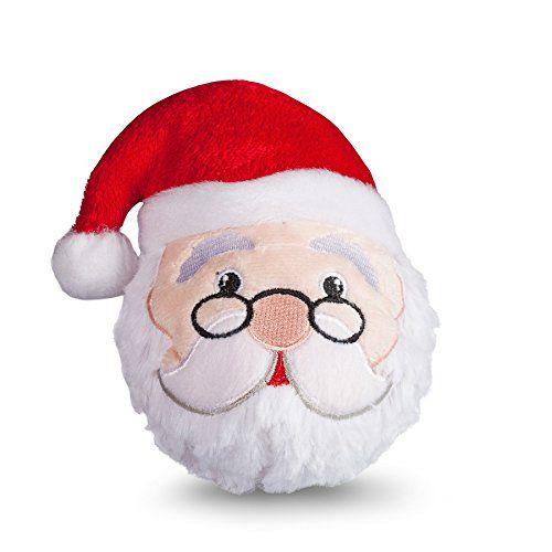 Fab Dog Santa Faball Squeaker Dog Toy