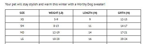 Hand-Knit-Blue-Turtleneck-by-Worthy-Dog Size Chart