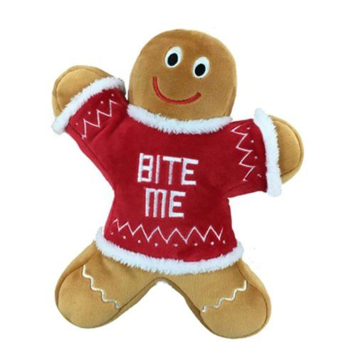 Lulubelles power plush Eddie gingerbread Man dog toy
