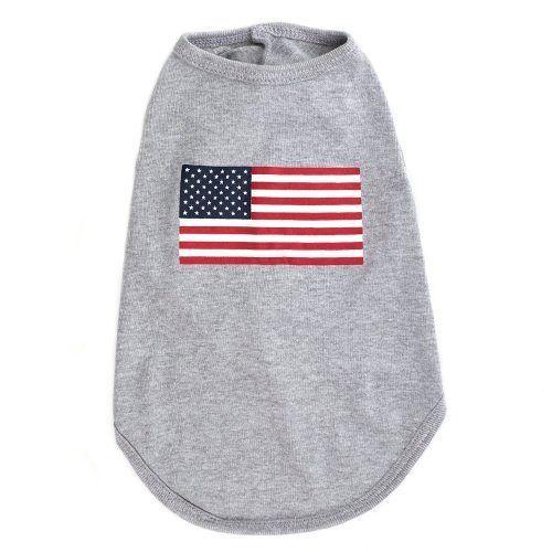 Worthy Dog American Flag Dog Tee SHirt