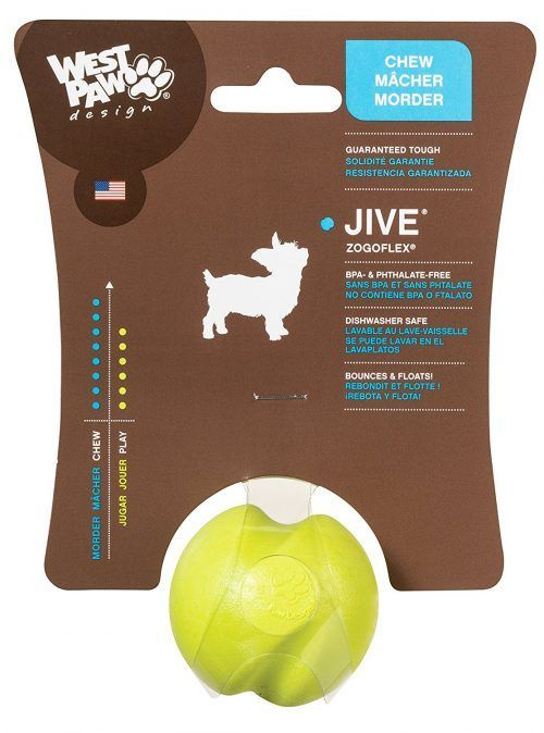 Green-West-Paw-Design-Jive-Zogoflex-Durable-Ball-Dog-Chew-Toy