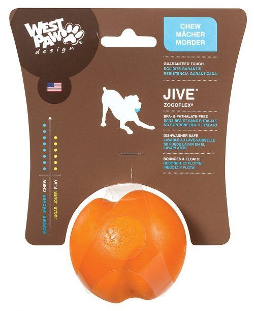 Orange West-Paw-Design-Jive-Zogoflex-Durable-Ball-Dog-Chew-Toy