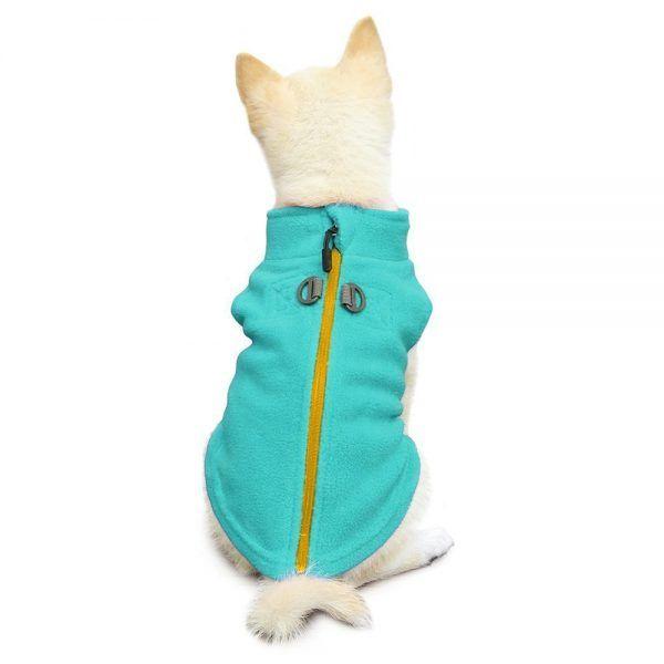 Gooby-Zip-Up-Fleece-Dog-Vest-Blue