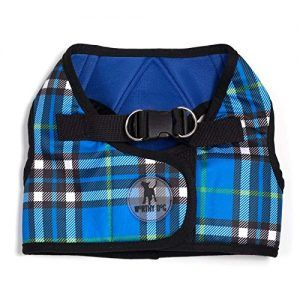 worthy dog sidekick blue plaid vest dog harness